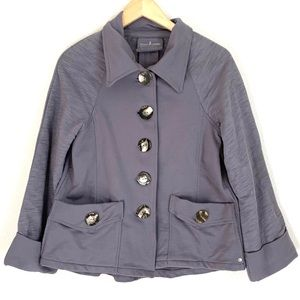 Neon Buddha button front lightweight jacket